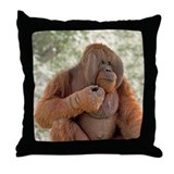 Orangutan Talukan 1 Throw Pillow