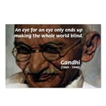 Peace Activist Gandhi Postcards (Package of 8)