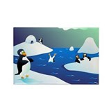 Penguin Party! Rectangle Magnet (10 pack)