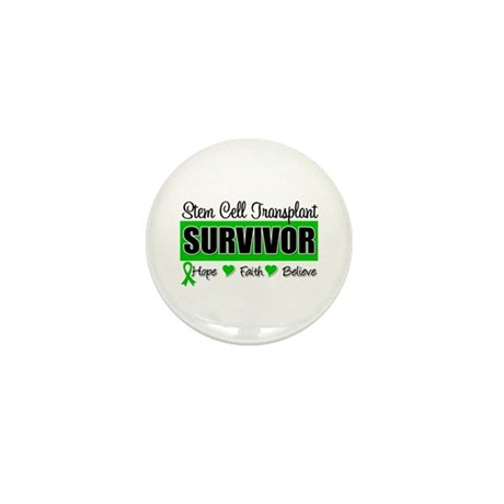 Stem Cell Transplant Survivor Mini Button (100 pac