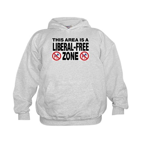 This Area Is A Liberal-Free Zone Kids Hoodie
