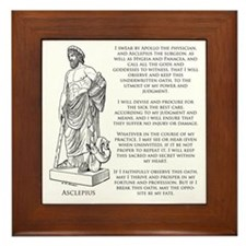 Hippocratic Oath Framed Tile