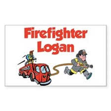 Firefighter Logan Rectangle Decal