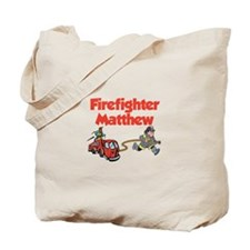 Firefighter Matthew Tote Bag