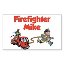 Firefighter Mike Rectangle Decal