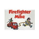 Firefighter Mike Rectangle Magnet