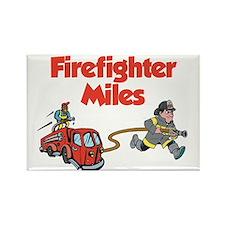Firefighter Miles Rectangle Magnet
