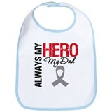 Brain Cancer Hero Dad Bib