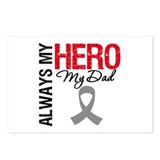 Brain Cancer Hero Dad Postcards (Package of 8)