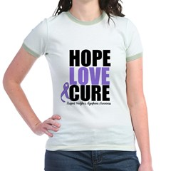 Hodgkins Hope Love Cure Jr. Ringer T-Shirt
