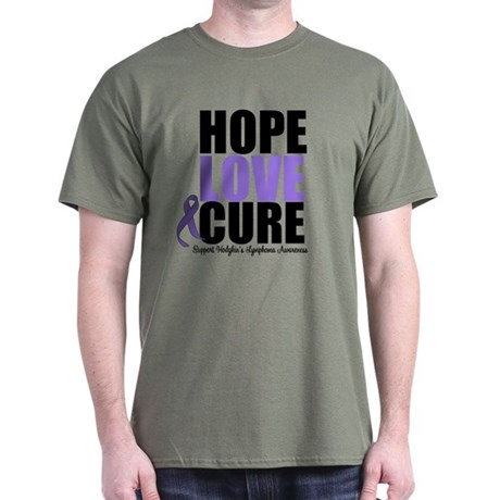 Hodgkins Hope Love Cure Dark T-Shirt