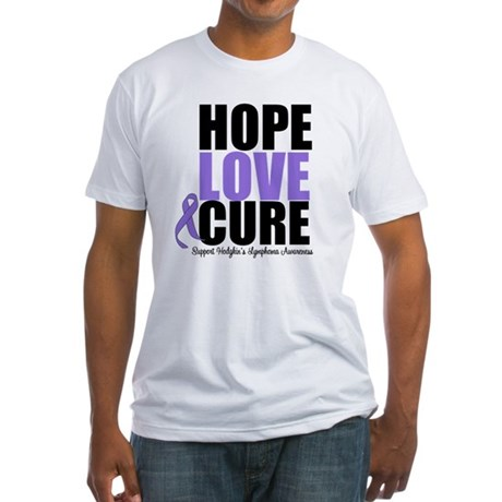 Hodgkins Hope Love Cure Fitted T-Shirt