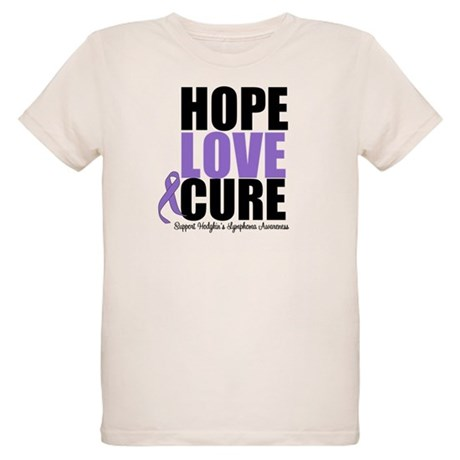 Hodgkins Hope Love Cure Organic Kids T-Shirt