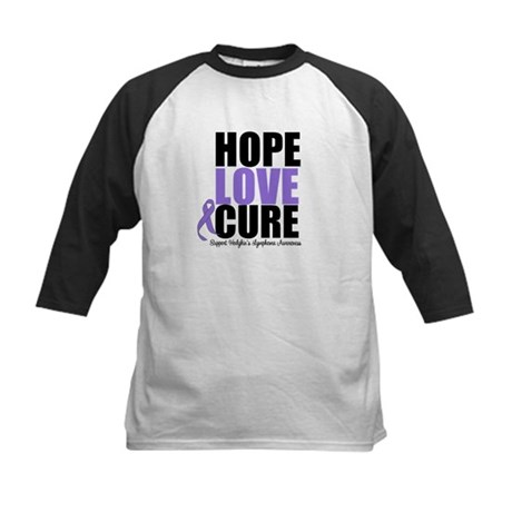 Hodgkins Hope Love Cure Kids Baseball Jersey