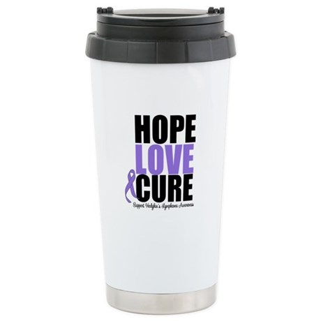 Hodgkins Hope Love Cure Ceramic Travel Mug