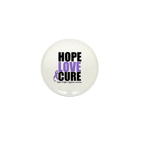 Hodgkins Hope Love Cure Mini Button