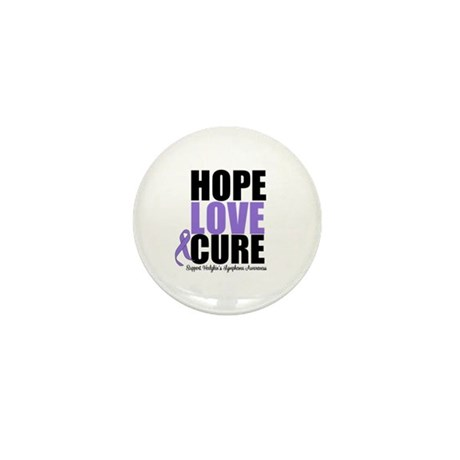 Hodgkins Hope Love Cure Mini Button (100 pack)