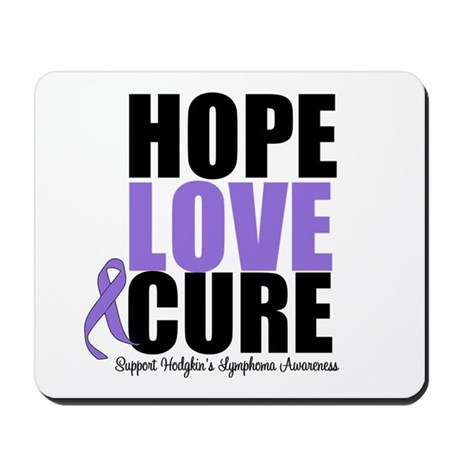 Hodgkins Hope Love Cure Mousepad