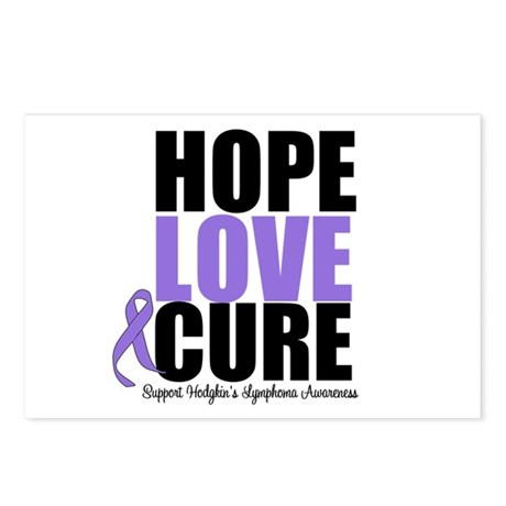 Hodgkins Hope Love Cure Postcards (Package of 8)