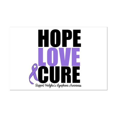 Hodgkins Hope Love Cure Mini Poster Print
