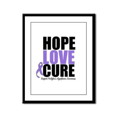 Hodgkins Hope Love Cure Framed Panel Print