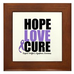 Hodgkins Hope Love Cure Framed Tile
