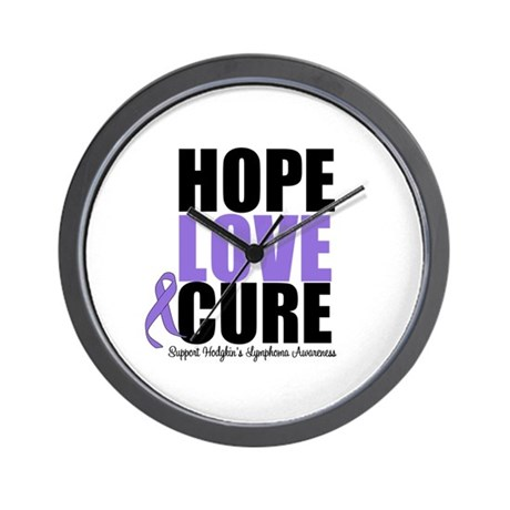 Hodgkins Hope Love Cure Wall Clock