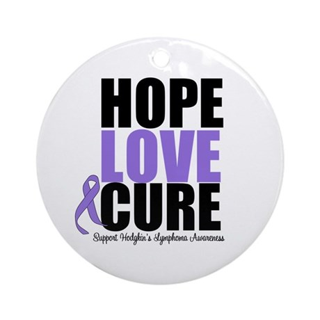 Hodgkins Hope Love Cure Ornament (Round)