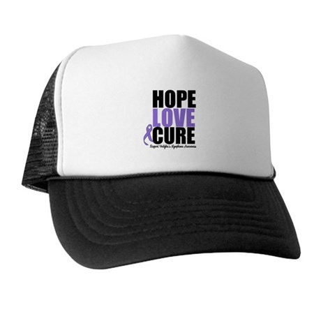 Hodgkins Hope Love Cure Trucker Hat
