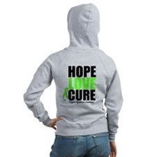 Lymphoma Hope Love Cure Zip Hoodie
