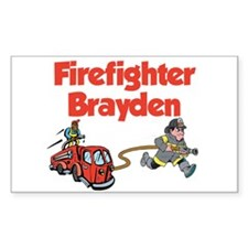 Firefighter Brayden Rectangle Decal