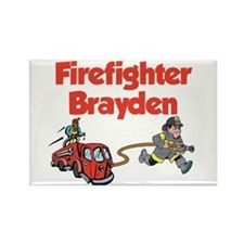 Firefighter Brayden Rectangle Magnet