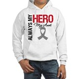 Brain Cancer Hero Aunt Hoodie Sweatshirt