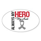 Brain Cancer Hero Aunt Oval Sticker (10 pk)