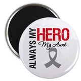 "Brain Cancer Hero Aunt 2.25"" Magnet (100 pack)"