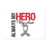Brain Cancer Hero Aunt Postcards (Package of 8)