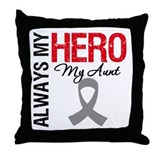 Brain Cancer Hero Aunt Throw Pillow