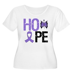 Hodgkin's Disease Hope Women's Plus Size Scoop Nec