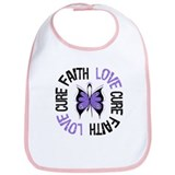 Hodgkins Faith Love Cure Bib
