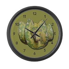 Green Tree Python Large Wall Clock