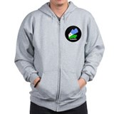 Flag Map of Djiboutian Island Zip Hoody