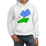 Djiboutian Islands Flag Map Jumper Hoody