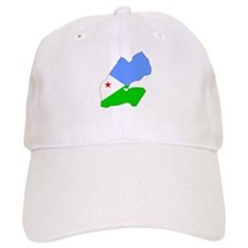 Djiboutian Islands Flag Map Baseball Cap