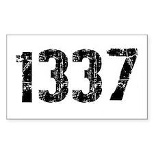 1337 Rectangle Sticker 10 pk)