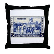 Cute West point military academy Throw Pillow