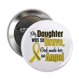 "Angel 1 DAUGHTER Child Cancer 2.25"" Button"
