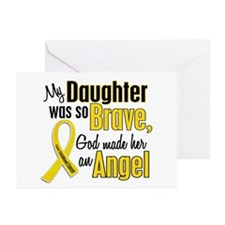 Angel 1 DAUGHTER Child Cancer Greeting Cards (Pk o
