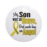 Angel 1 SON Child Cancer Ornament (Round)