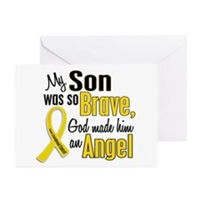 Angel 1 SON Child Cancer Greeting Cards (Pk of 20)