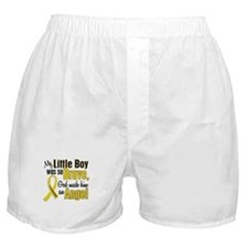 Angel 1 LITTLE BOY Child Cancer Boxer Shorts